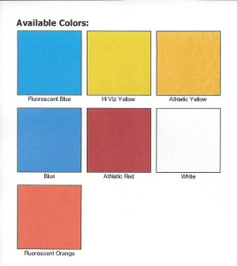Spray Athletic Paint Swatches